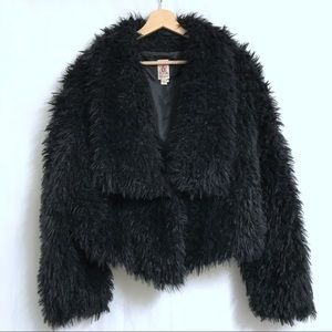 Jackets & Blazers - Black Faux Fur Teddy Bear Coat